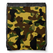 camouflage pattern drawstring backpack