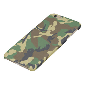 Camouflage Pattern Glossy iPhone 6 Plus Case