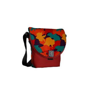 Camouflage pattern messenger bag