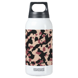 Camouflage Pattern PANTONE  Marsala Toasted Almond Insulated Water Bottle