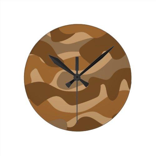 Camouflage pattern round clock