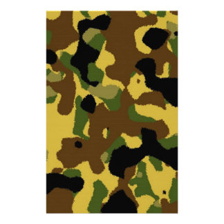 camouflage Pattern Stationery
