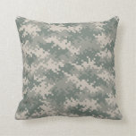 Camouflage Pattern Throw Pillow