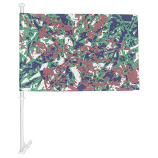 Camouflage Pattern Car Flag