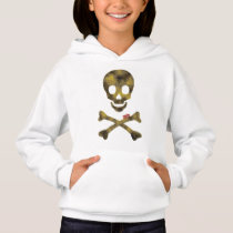 Camouflage patterned skull hoodie