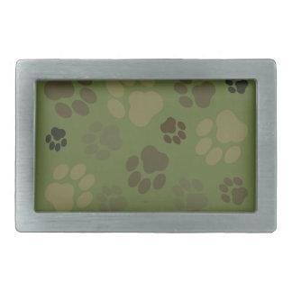 Camouflage Pawprint Belt Buckle