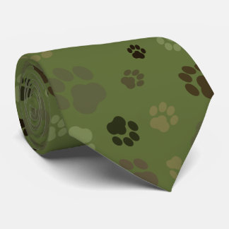 Camouflage Pawprint Tie