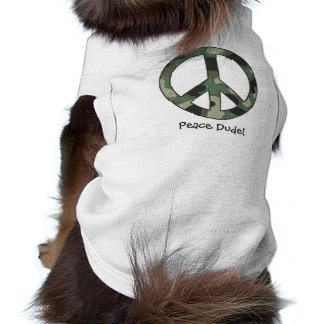 Camouflage Peace Dude! Doggie Ribbed Tank Top