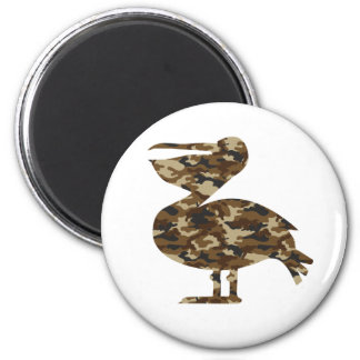 Camouflage Pelican Silhouette Magnet