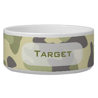 Camouflage | Personalized Dog Dish