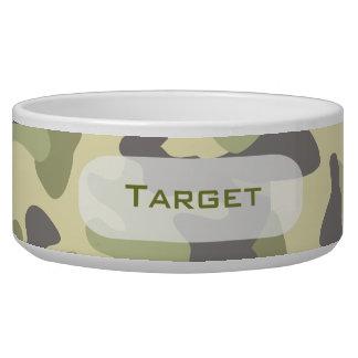 Camouflage   Personalized Dog Dish