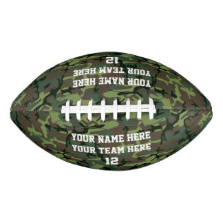 Camouflage Personalized Name Team Number Sports Football