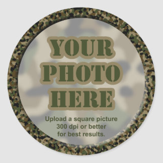 Camouflage Photo Stickers (sheet of 20 small)