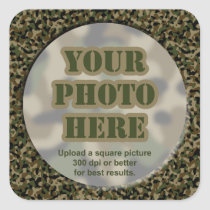 Camouflage Photo Stickers (sheet of 6 large)