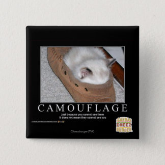 Camouflage Pinback Button