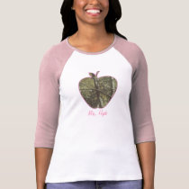 Camouflage   Pink Apple Teacher T-Shirt