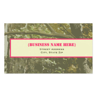 Camouflage & Pink Business Card