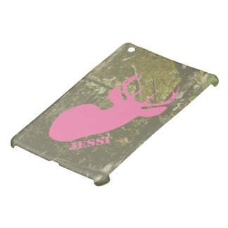 Camouflage & Pink Deer Personalized iPad Mini Case