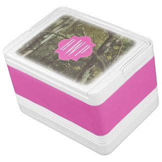 Camouflage   Pink Monogram Drink Cooler