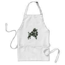 Camouflage Poodle Silhouette Adult Apron