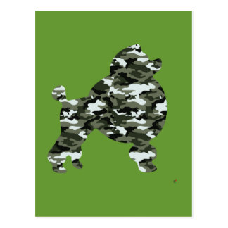 Camouflage Poodle Silhouette Postcard