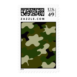 Camouflage Postage Stamp