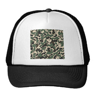 Camouflage print mesh hat
