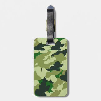 camouflage print pattern tag for luggage