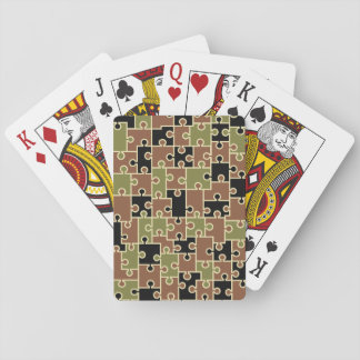 Camouflage Puzzle Playing Cards