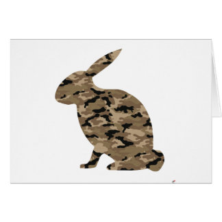 Camouflage Rabbit Silhouette Card