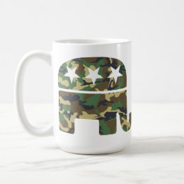 Camouflage Republican Elephant Mug