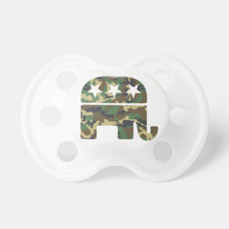 Camouflage Republican Elephant Pacifier BooginHead Pacifier