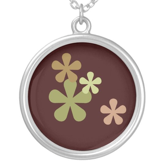 Camouflage Retro Flowers Necklace
