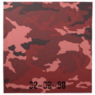 Camouflage roja modelo servilleta imprimida