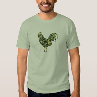 Camouflage Rooster Silhouette Tees