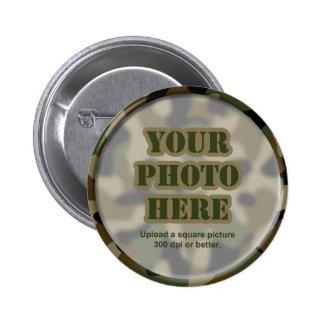 Camouflage Round Frame Pins