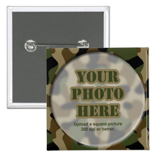 Camouflage Round Frame Pin