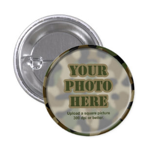 Camouflage Round Frame Buttons