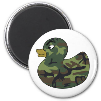 Camouflage Rubber Duck 2 Inch Round Magnet