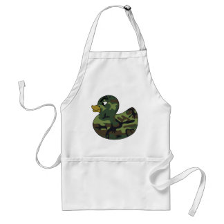 Camouflage Rubber Duck Adult Apron