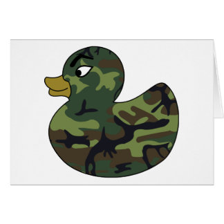 Camouflage Rubber Duck Greeting Card