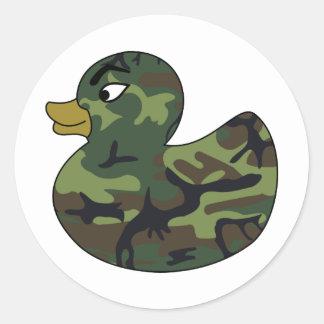 Camouflage Rubber Duck Classic Round Sticker