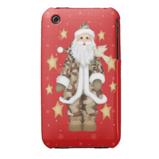 Camouflage Santa Barely There 3G/3GS iPhone Case