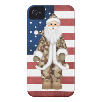 Camouflage Santa Claus Case Mate iPhone 4/4S Case