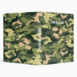 Camouflage School Binder with Your Name