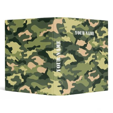 Beach Themed Camouflage School Binder with Your Name