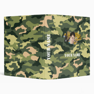 Camouflage School Binder with Your Name & Photo