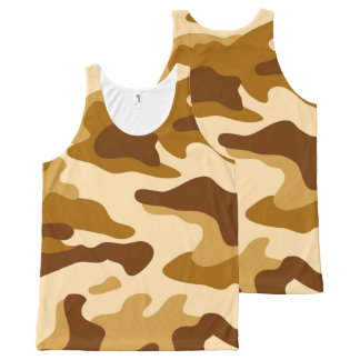 Camouflage seamless pattern All-Over-Print tank top