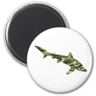 Camouflage Shark Silhouette Magnet