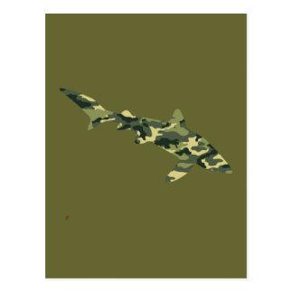 Camouflage Shark Silhouette Postcard